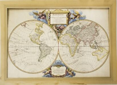 VAUGONDY (Robert de fils): Mappemonde ou Description du Globe Terrestre,...