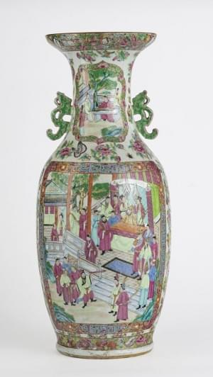 Grand vase, Canton, Chine, XIXe s