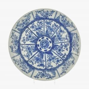 Grand plat rond, Chine, dynastie Qing (1644-1912)