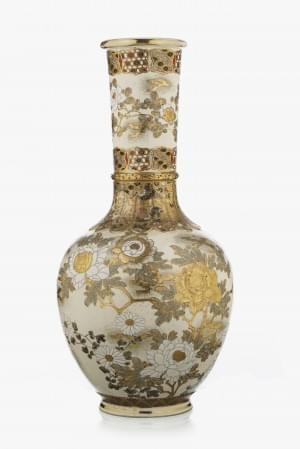 Grand vase balustre, Satsuma, Japon, époque Meiji (1868-1912)